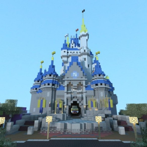 Minecraft Castillo Disney