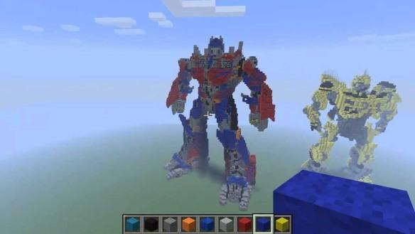 Minecraft Optimus Prime