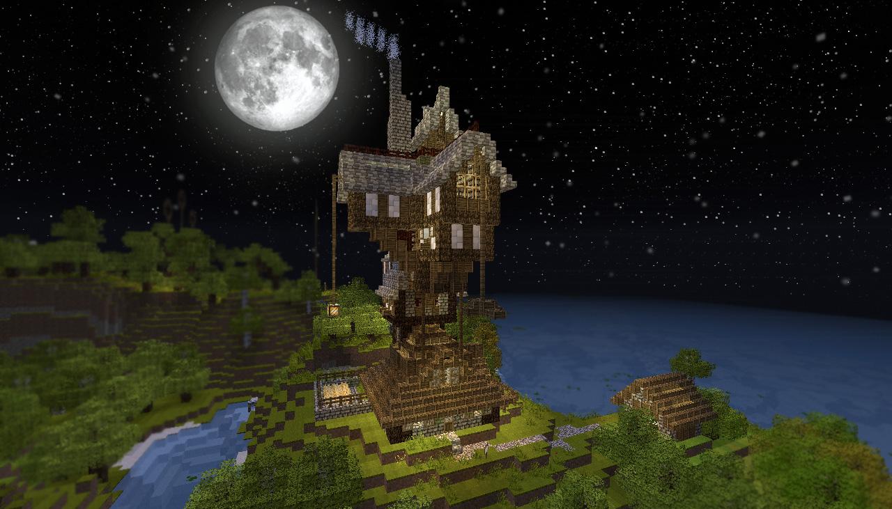 Minecraft y el cine casas de pel cula consola y tablero - Harry potter casa ...