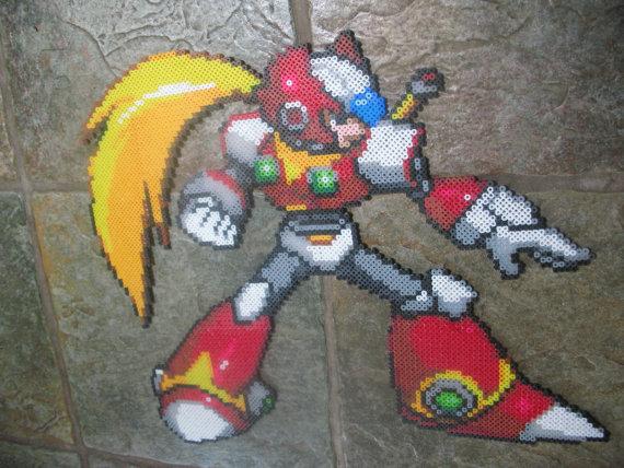 Hama Beads Megaman Cero
