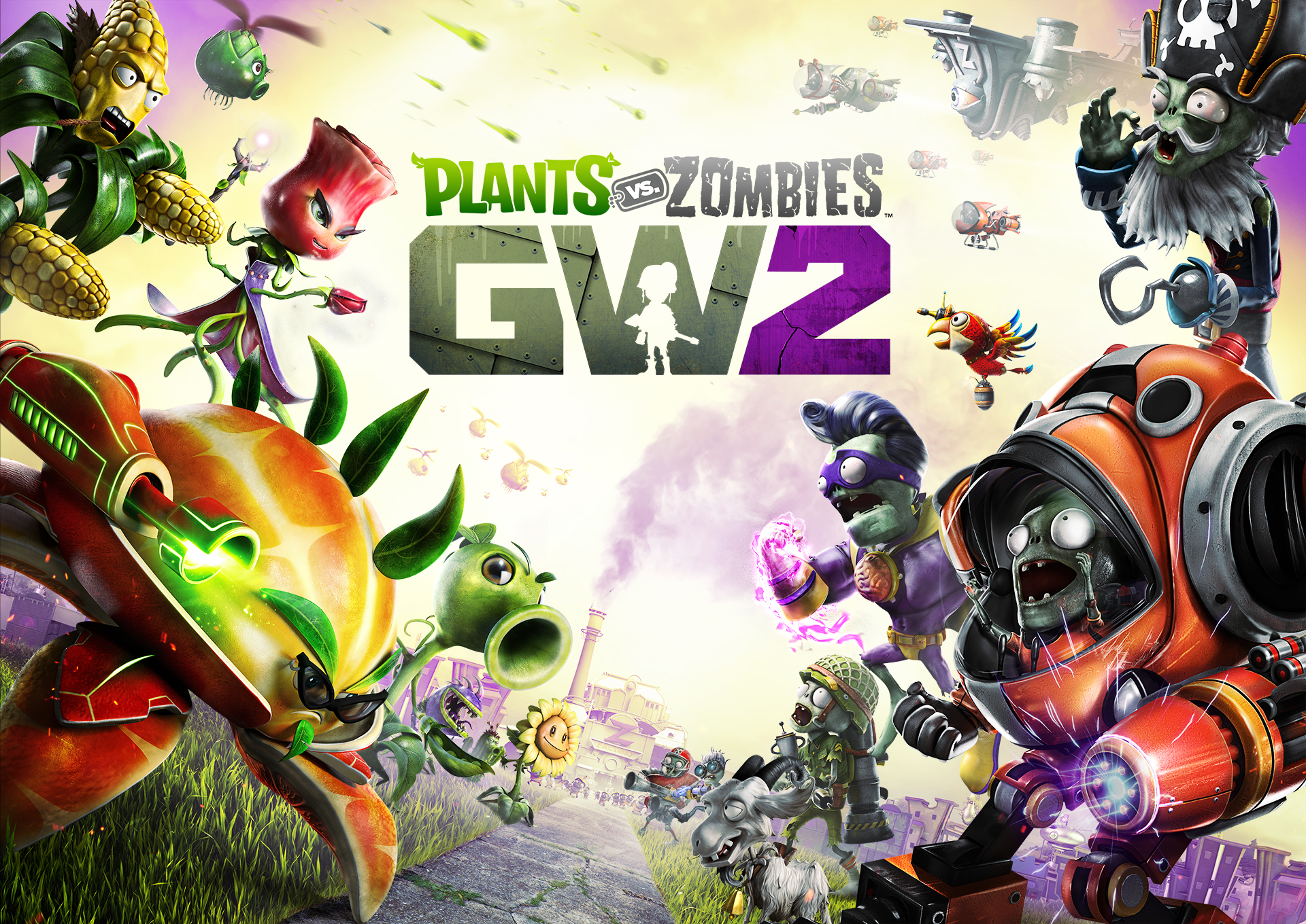Plants Vs Zombies Gw2 Consola Y Tablero