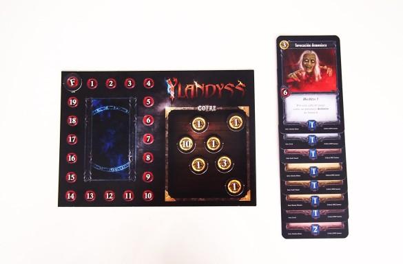 Al final de la partida, se tendrán en cuenta las monedas del cofre y el valor de las cartas del mazo.