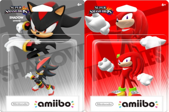 Amiibo Shadow y Knuckles
